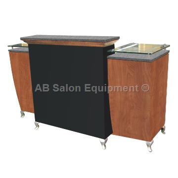 Ab salon equipment 00777 hamilton reception desk for Ab salon equipment