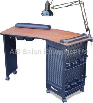 Dina Meri 391v Boomerang Vented Manicure Table