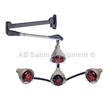 Pibbs Ql954a 4 Head Heat Lamp W Wall Arm