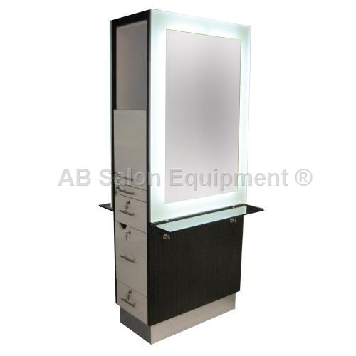 Ab cabinets 89154 back to back styling station for Ab salon equipment