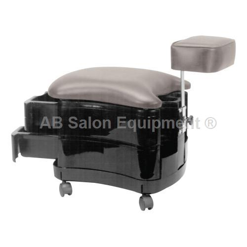 Pibbs 2033 two shelf stool with footrest for Ab salon equipment